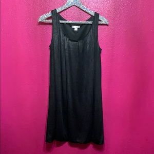 Xhilaration Black Metallic Dress